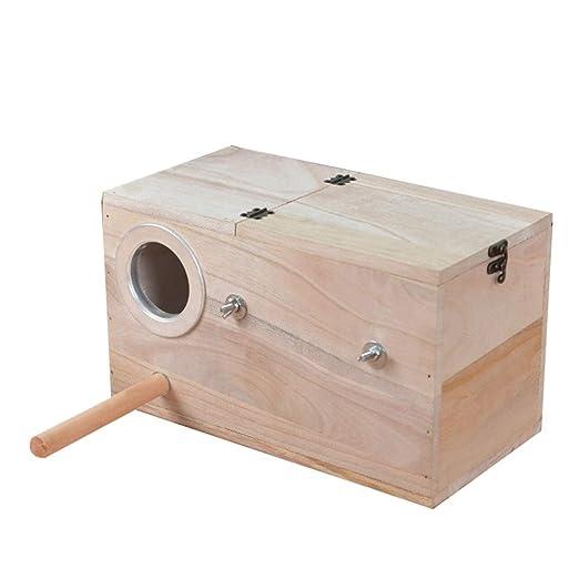 Nido de pájaro caliente del invierno Periquito para mascotas Caja ...