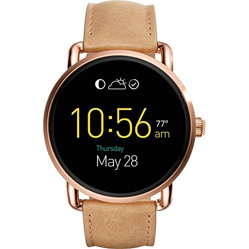 Fossil Q Wander Leather Touchscreen Smartwatch (Beige) by Fossil