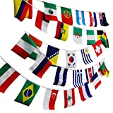 NAVAdeal 50 8''x10'' Assorted World Flags Banner, Olympic Games Party Event Sports Bar Supplies