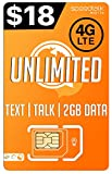 PREPAiD Unlimited Text & Talk | 3 in 1 sim Card | GSM SiM | Nationwide 4G LTE Network