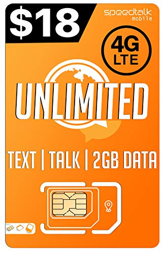 PREPAiD Unlimited Text & Talk | 3 in 1 sim Card | GSM SiM | Nationwide 4G LTE Network by Padfender