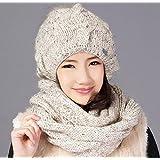 CXYY Ladies new wool scarf one Fox in winter ball hand-set cap , b