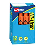 HI-LITER Desk Style, Orange, Box of 12 (24050)