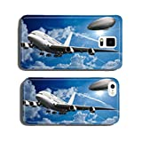 Widebody aircraft with Zeppelin in the sky cell phone cover case Samsung S6