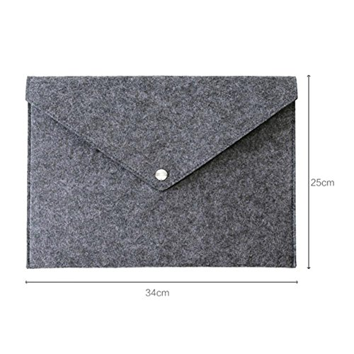 Filing Grey A4 Solid Folders Bags Big Simple Briefcase Business Document Capacity Light Bag Felt Majome File fHxFw