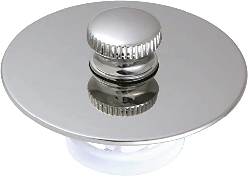 Kingston Brass DTL5304A6 Trimscape Cover-Up Tub Push-Pull Drain Stopper, Polished Nickel