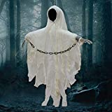 """Electric Flying Ghost, 33.4"""" Halloween Hanging"""