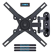 Mounting Dream MD2463-L TV Monitor Wall Mount Bracket with Full Motion Articulating Arm for most 17-39 Inches LED, LCD and Plasma TVs up to VESA 200x200mm and 33 LBS, with Rotation, Tilt, Swivel