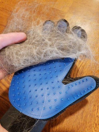 (Triple A Dogs -Premium Pet Grooming Gloves with Silicon Tips for Shampoo Bathing, Gentle Deshedding and Massage for Dogs,Cats and Horses)