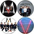 Maroon 5 SET 2 Buttons Badges/Pin 1.25 Inch (32mm)
