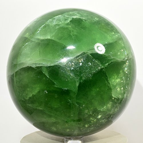 4  4Lb Rainbow Green Fluorite W  Purple Crystal Inside Sphere Polished Natural Gemstone Crystal Mineral Ball   China   Plastic Stand   2