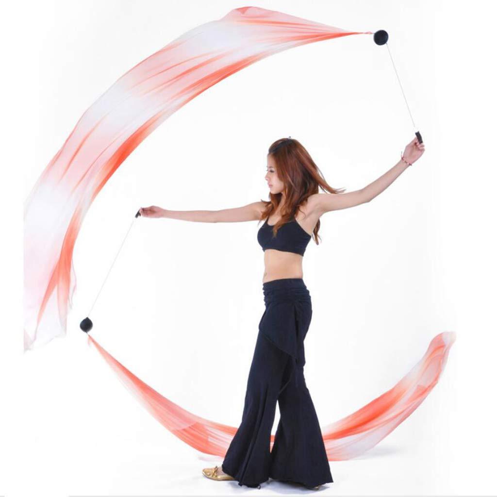 Baoblaze Balles Danse du Ventre Lanc/ées avec Voile de Soie Boules Boules Poign/ée Confortable Aide Professionnelle Danseur F/ête dHalloween Sc/ène No/ël