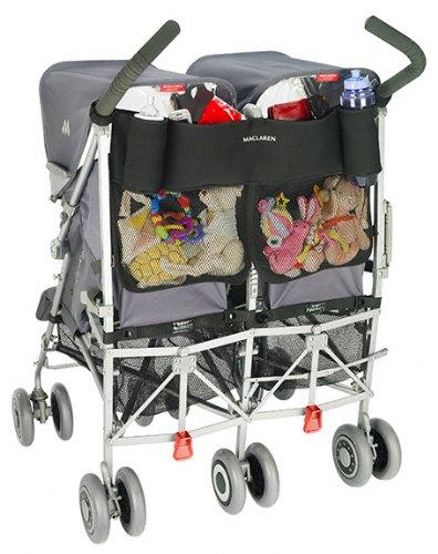 Maclaren Organizador universal Twin - Para tener lo esencial siempre a mano. Se adapta a Maclarens y mayoria de las marcas, Accesorio ideal para sillas de pas