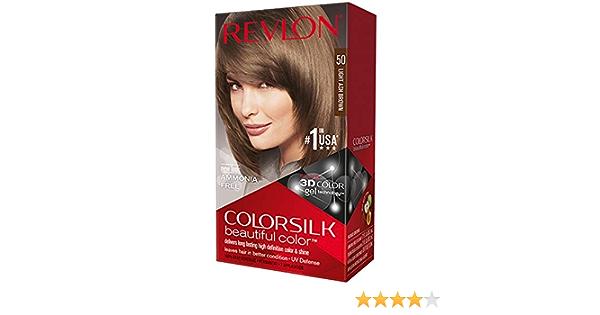Tinte Sin Amoniaco Colorsilk Revlon Castaño claro cenizo