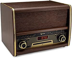 Amazon.com: ClearClick Retro FM Radio with CD Player