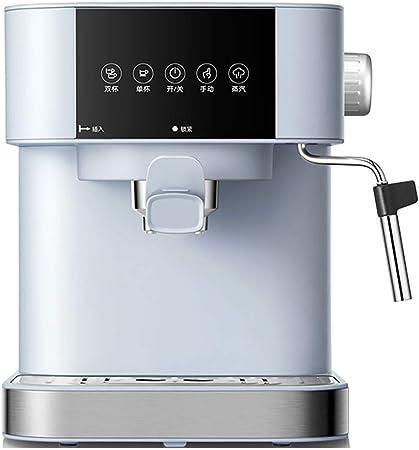 Cafetera automática,Office Home Microordenador italiano Pantalla táctil Vapor Leche Espuma Máquina de café semiautomática Cappuccino: Amazon.es: Hogar