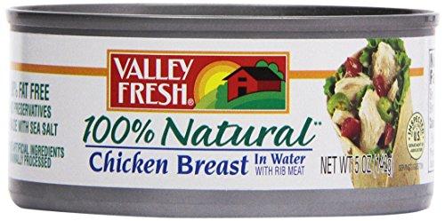 Ingredients 100% Chicken Breast - Vallyfresh Premium White Chicken Meat, 5 oz