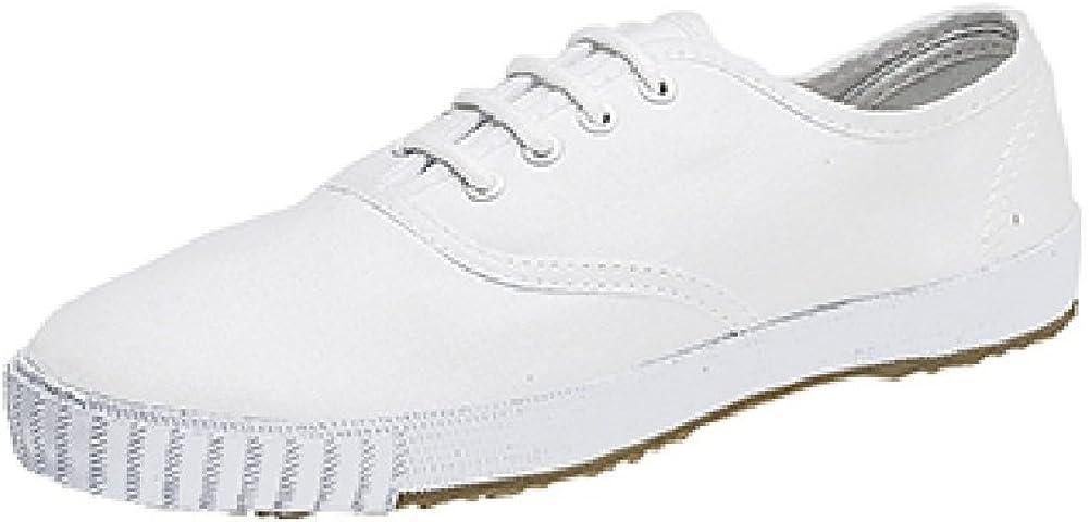 UKD Mens White Retro Toe Cap Plimsolls