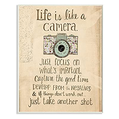 Stupell Decor Life Is Like A Camera Inspirational Art Wall Plaque