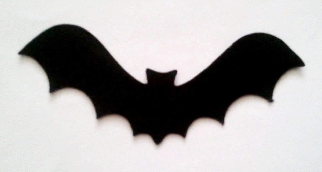 10 Bat Silhouette Die Cuts Shapes Black Card