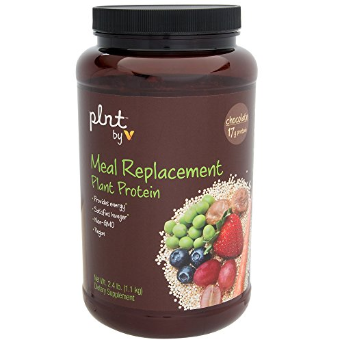 plnt Chocolate Meal Replacement Powder Vegan NonGMO Plant Protein That Provides Energy Satisfies Hunger, 17g of Protein Per Serving 2.4 Pound Powder