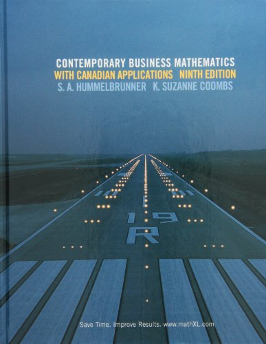Contemporary Business Mathematics with Canadian Applications