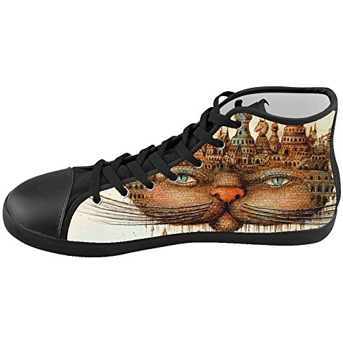Dalliy s¨¹?e katze Mens Canvas shoes Schuhe Lace-up High-top Footwear Sneakers B