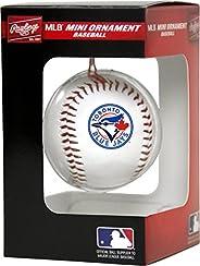 Rawlings MLB Toronto Blue Jays MLB Ornament N Replica Baseball, White, Mini