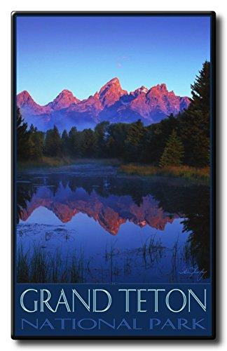 Grand Teton National Park Aluminum HD Metal Wall Art by Artist Ike Leahy ( 18