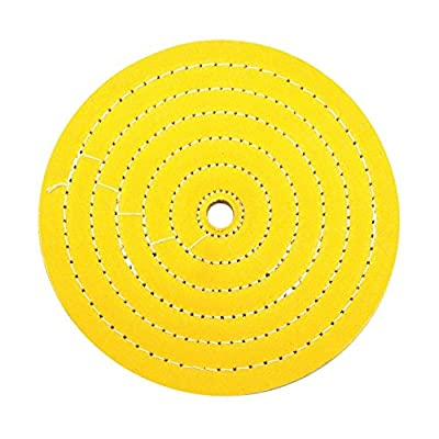 """United Pacific 90080 1 Pack 8"""" Yellow Treated Muslin Buff-5/8 Arbor: Automotive"""