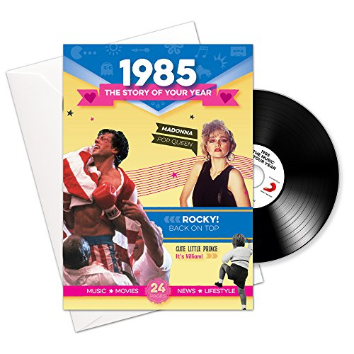 Music Download Card - CD Card Company 1985 Birthday or Anniversary Gifts - 1985 4-In-1 Card and Gift - Story of Your Year, CD, Music Download