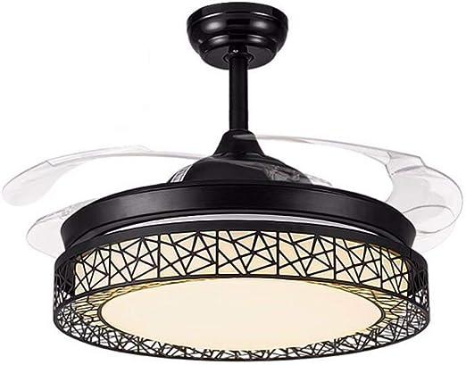 Araña de ventilador negro, diseño moderno de la personalidad ...