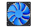 Silverstone Tek 120 x120 x 25mm 1500 RPM Air Penetrator and Air Channeling Case Fan with Fluid Dynamic Bearing and Fan Blade Design, Blue/Black AP123