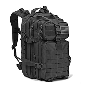 Military Tactical Assault Pack Backpack Army Molle Bug Out Bag Backpacks Small Rucksack for Outdoor Hiking Camping Trekking Hunting Small Black