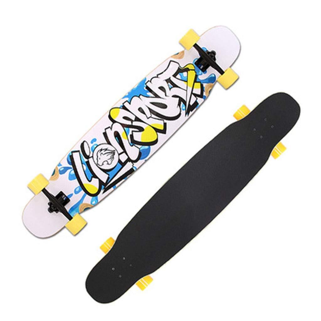 MSNDD Persönlichkeit Graffiti Lange Board Jugend Dance Board Cool Roller Professionelle Doppel Knöchel Konkav 117 cm B07PJB8SZC Longboards Mangelware