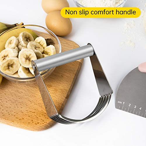Dough Blender Stainless Steel, Pastry Blender, Baking Dough Tools with Heavy Duty Stainless Steel Blades Great as Baking Tools