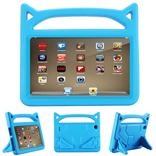 Fire 7 2017 Case, Fire 7 2015 Case,ANTIKE Light Weight Kids Shock Proof Stand Cover for Amazon Fire 7 Tablet (5th Generation, 2015 Release and 7th Generation, 2017 Release)(Sky Blue)