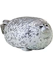 Seal Plush Doll|Stuffed Chubby 3D Animal Toy|Lovely Seal Throw Pillow|Simulation Blob Seal Play Toy|Animal Plush Pillow Cuddle Pillow