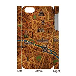 custom For Apple Iphone 5C Case Cover Vintage Map 3D cell For Apple Iphone 5C Case Cover at Jipic (style 1)