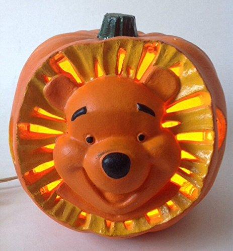 Winnie the Pooh Disney's Light Up Foam Pumpkin Jack-o-Lantern 1999