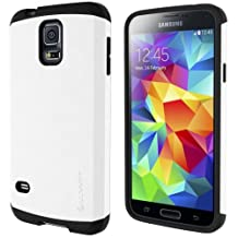 LUVVITT® ULTRA ARMOR Samsung Galaxy S5 Case | Double Layer Shock Absorbing Case for Samsung Galaxy S5 SV ( Retail Packaging) - White