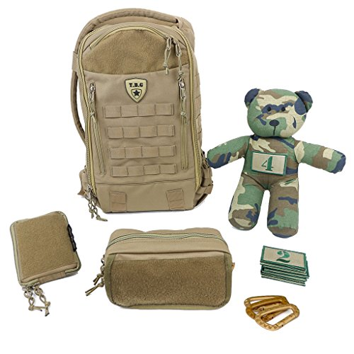 Tactical Baby Gear Daypack 3 0 Full Load Out Tactical Diaper Bag Backpack Set  Coyote Brown