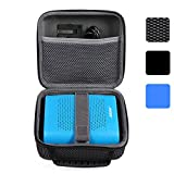 BOVKE for Bose Soundlink Color Wireless Bluetooth Speaker / for UE ROLL 360 Wireless Bluetooth Speaker Hard EVA Shockproof Carrying Case Storage Travel Case Bag Protective Pouch Box, Mesh Black
