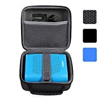 BOVKE for Bose Soundlink Color II / UE ROLL 360 Wireless Bluetooth Speaker Hard EVA Shockproof Carrying Case Storage Travel Case Bag Protective Pouch Box, Mesh Black