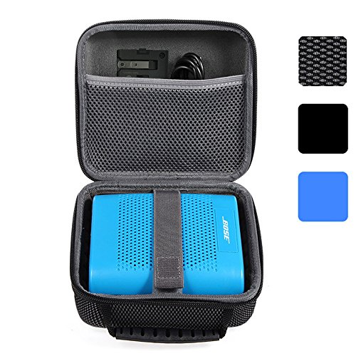 Case Hard Carry (BOVKE for Bose Soundlink Color II/UE ROLL 360 Wireless Bluetooth Speaker Hard EVA Shockproof Carrying Case Storage Travel Case Bag Protective Pouch Box, Mesh Black)