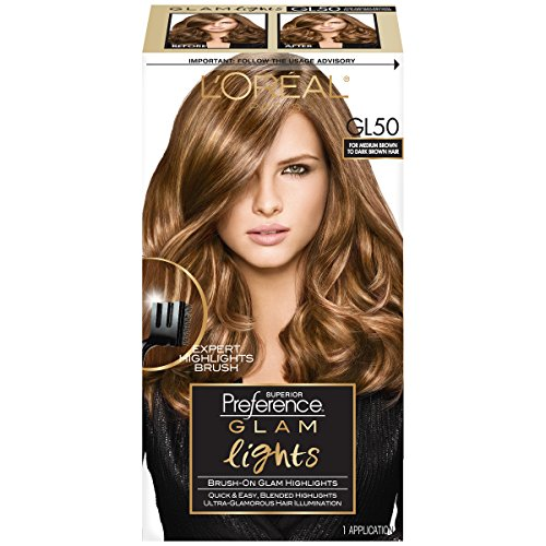 (L'Oreal Paris Superior Preference Brush On Glam Highlights, GL50 Medium Brown to Dark (Packaging May)