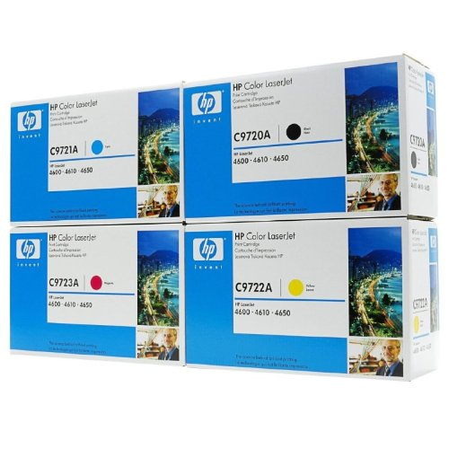 Genuine HP 4-PACK C9720A, C9721A, C9722A, C9723A For HP Color Laser 4600 4650 Series In Retail