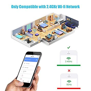 EFUN SH330W 2.4GHz Wi-fi Smart Plug,No Hub Required,Outlet Socket,10A Works for Appliance below 1200 Watts ,Compatible with Alexa Google Assistant IFTTT