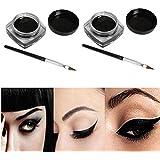 Canserin 2 PCS Mini Eyeliner Gel Cream With Brush Makeup Cosmetic Black Life Waterproof Eye Liner