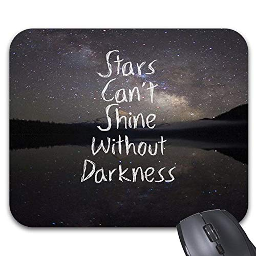 (Inspirational Quote Galaxy Space Mouse Pads 9 x 7.5